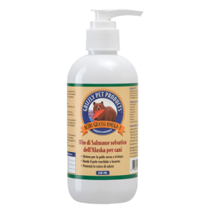 Olio di Salmone selvatico dell'Alaska per cani - Grizzly Pet Products